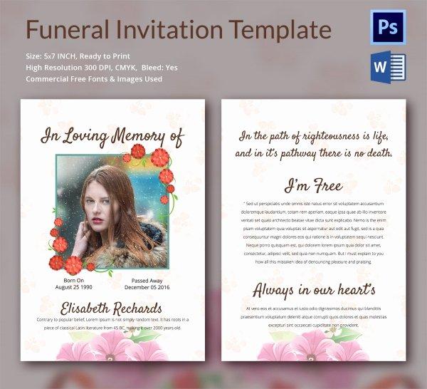 Funeral Invitation Template Free Unique Sample Funeral Invitation Template 11 Documents In Word