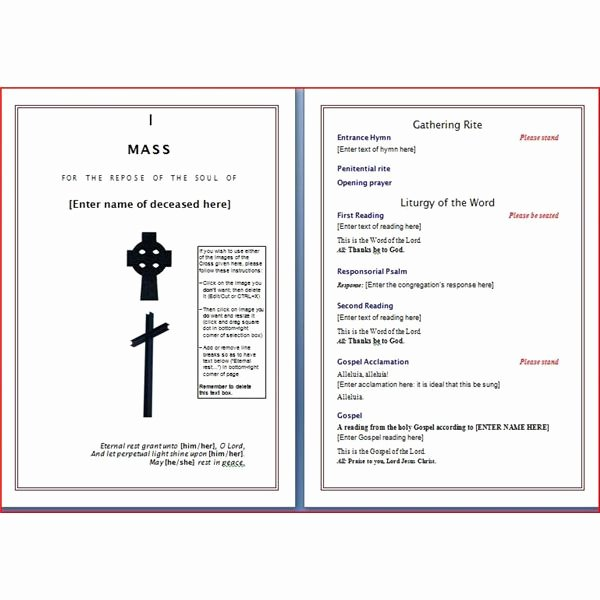 Funeral Mass Program Template Best Of Six Resources to Find Free Funeral Program Templates to