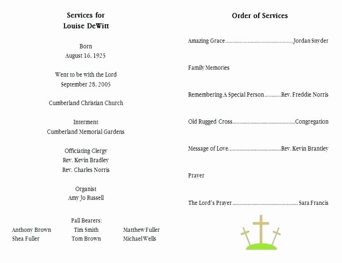 Funeral Mass Program Template Fresh Mass Of Christian Burial Program Template – Cotizarsoat
