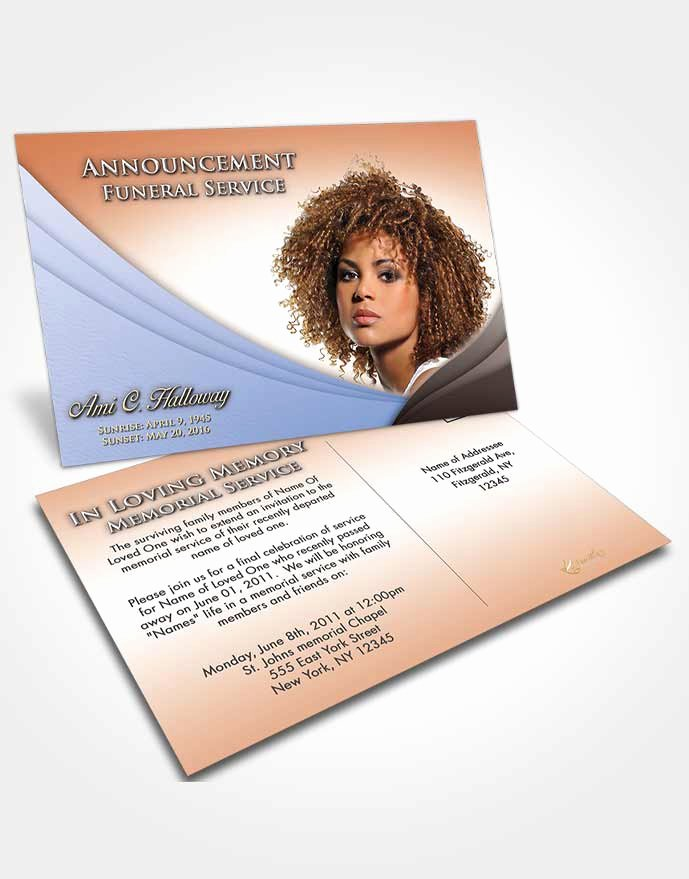 Funeral Memorial Card Template Beautiful 4 Page Graduated Step Fold Obituary Template Brochure