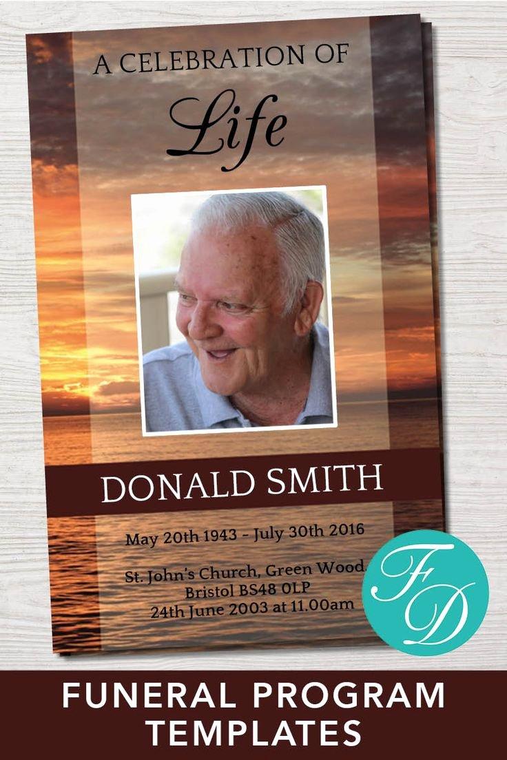 Funeral Memorial Card Template Best Of 500 Best Funeral Programs for Men