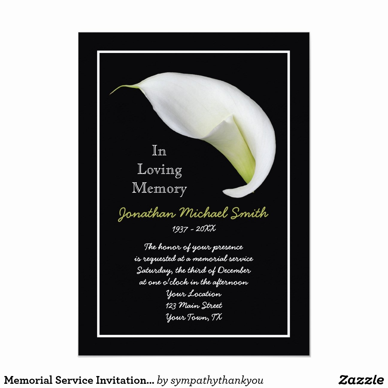 Funeral Memorial Card Template Best Of Memorial Service Invitation Announcement Template