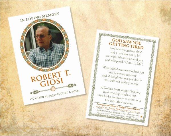 Funeral Memorial Card Template Elegant 8 Prayer Card Templates Psd Ai Eps