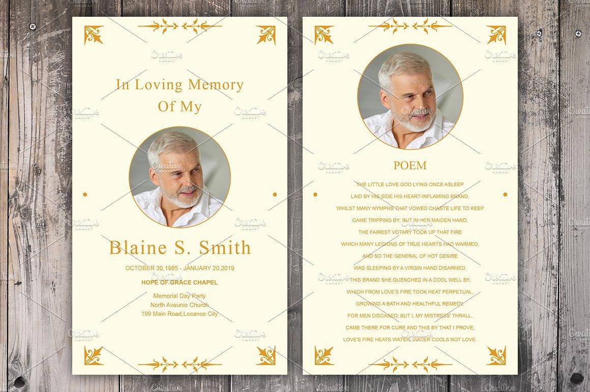 Funeral Memorial Card Template Elegant Funeral Prayer Card Template Card Templates Creative