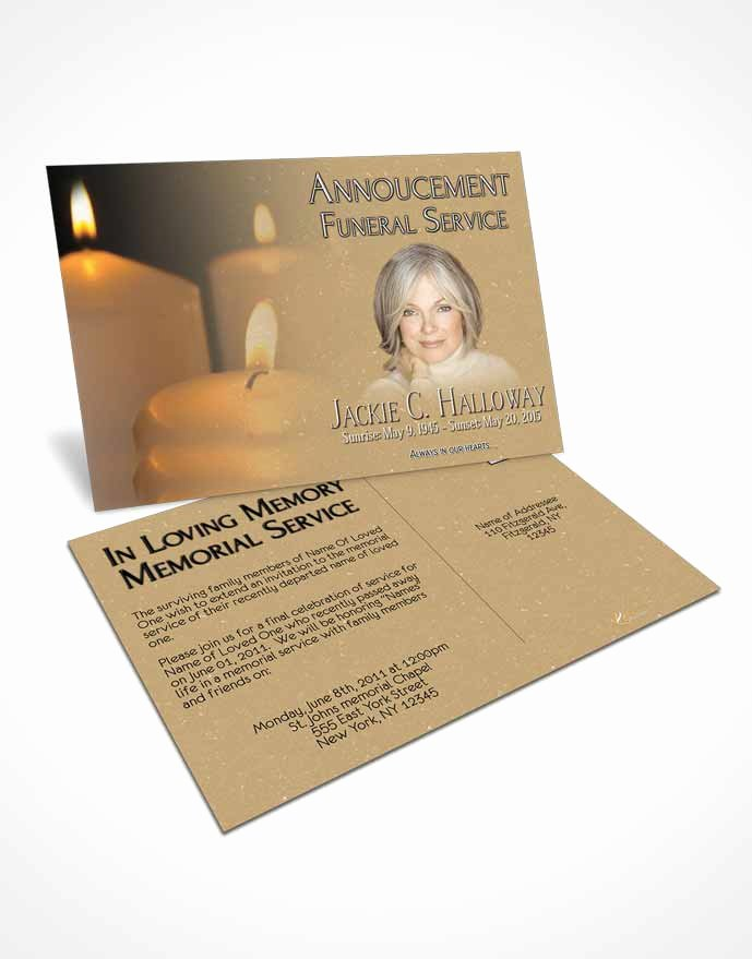Funeral Memorial Card Template Fresh Bifold order Of Service Obituary Template Brochure Golden
