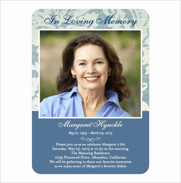 Funeral Memorial Card Template Lovely 16 Obituary Card Templates Free Printable Word Excel