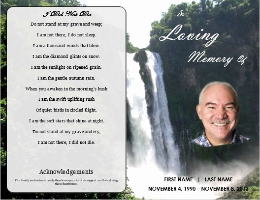 Funeral Memorial Card Template Luxury 1000 Images About Printable Funeral Program Templates On