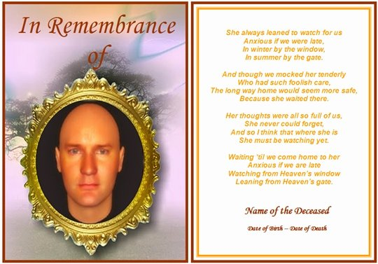 Funeral Prayer Cards Template Awesome 8 Best Of Free Printable Funeral Cards Free