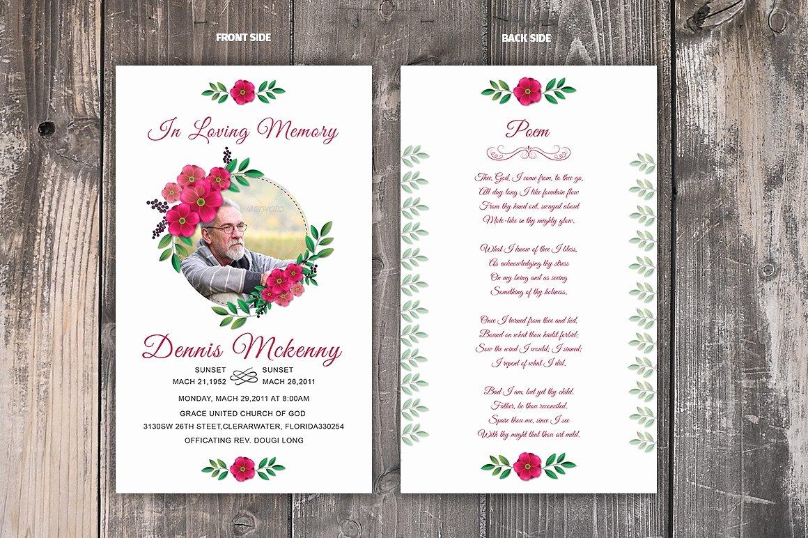 Funeral Prayer Cards Template Elegant Funeral Prayer Card Template Card Templates Creative