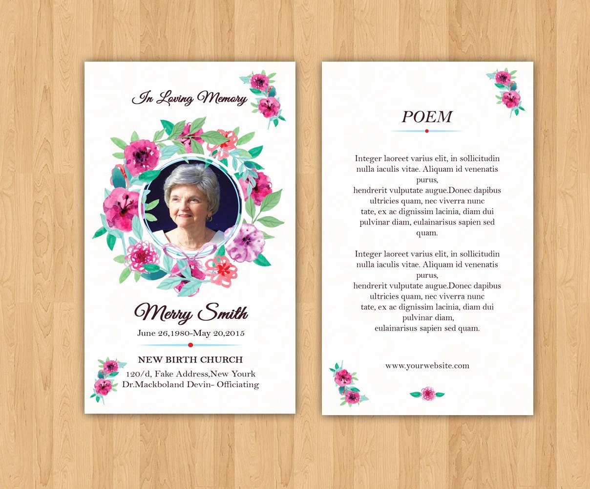 Funeral Prayer Cards Template Elegant Funeral Prayer Card Template Editable Ms Word & Shop