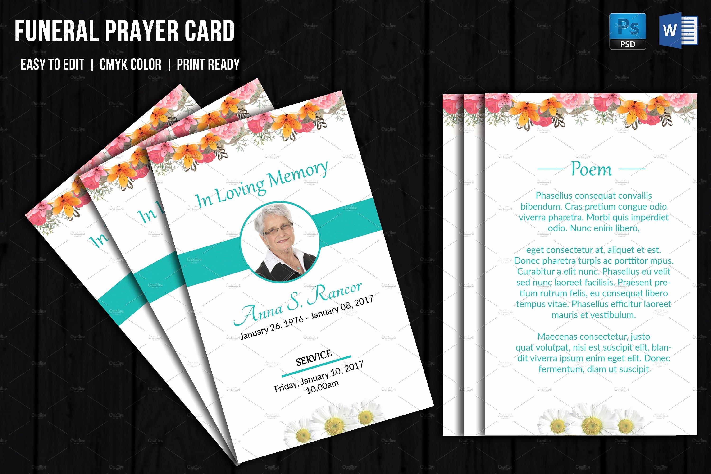 Funeral Prayer Cards Template Fresh Obituary Cards Templates Portablegasgrillweber
