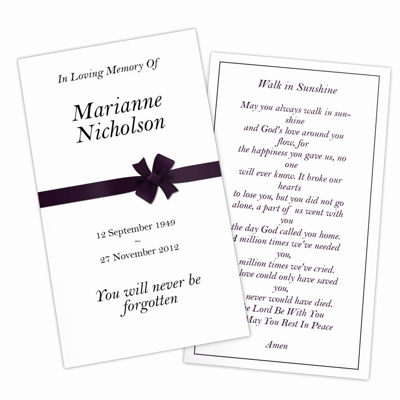 Funeral Prayer Cards Template Lovely Free Memorial Prayer Cards Pokemon Go Search for Tips