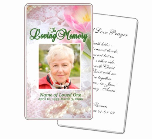 Funeral Prayer Cards Template Lovely What to Write In Funeral Cards Rocketswag