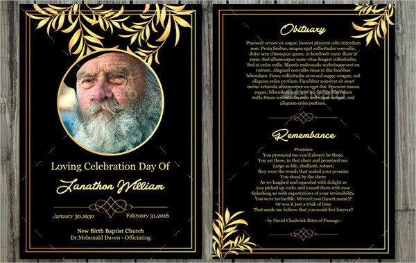 Funeral Prayer Cards Template Luxury Funeral Prayer Card Template 21 Psd Ai Eps format