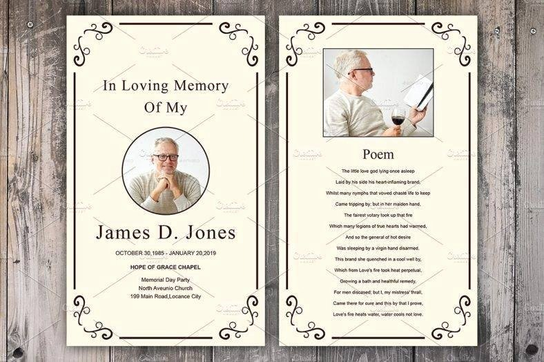 Funeral Prayer Cards Template New 9 Personalized Memorial Card