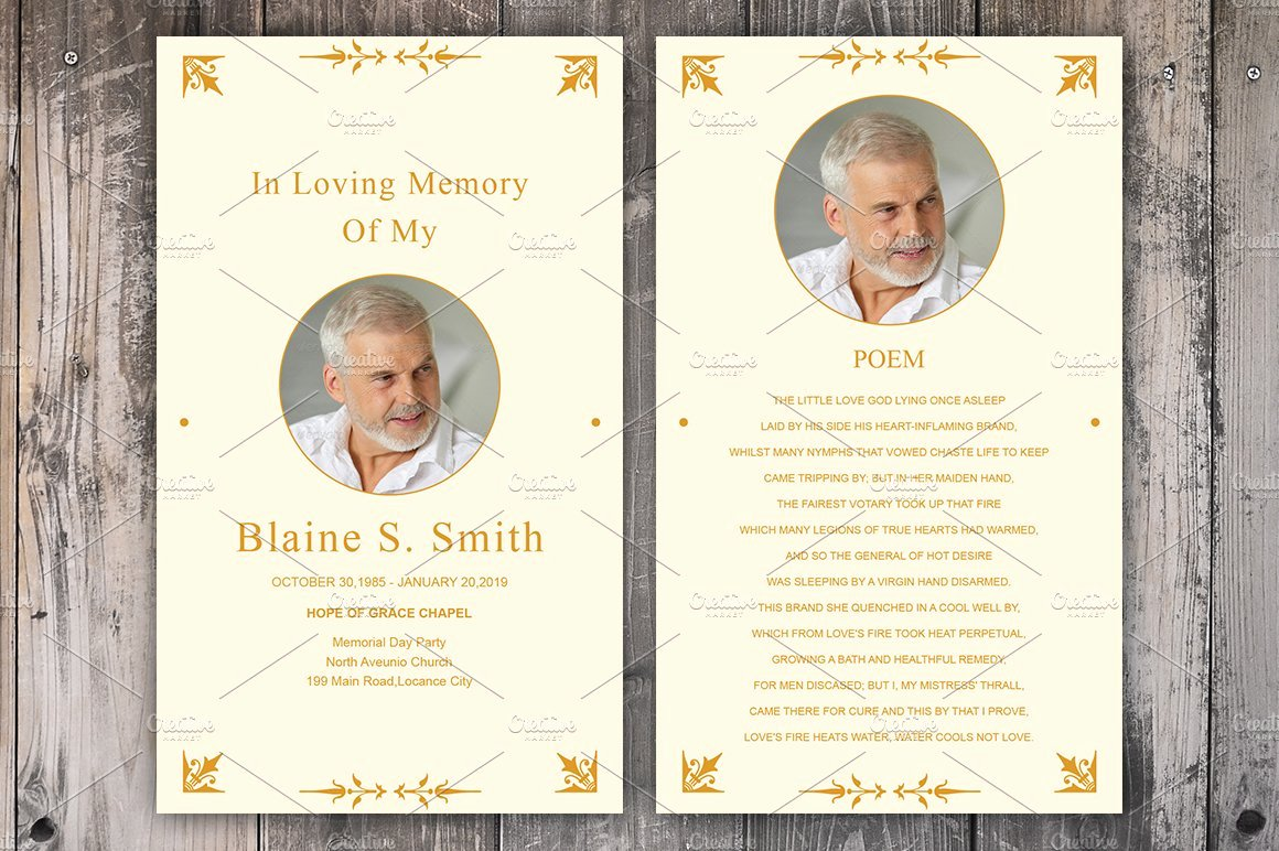 Funeral Prayer Cards Template New Funeral Prayer Card Template Card Templates Creative
