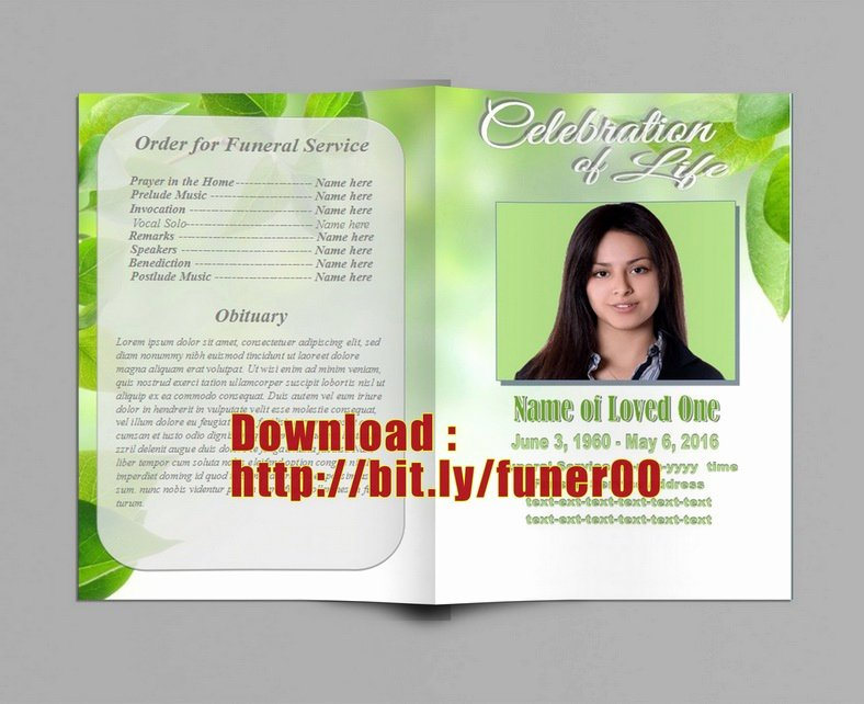 Funeral Program Template Publisher Awesome Free Funeral Program Template Customizable In Microsoft On