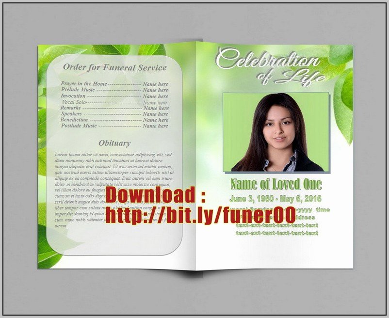 Funeral Program Template Publisher Awesome Free Funeral Program Template for Microsoft Publisher
