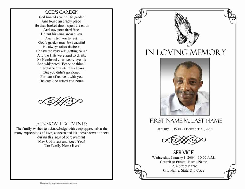 Funeral Program Template Publisher Awesome Funeral Program Templates Funeral Programs