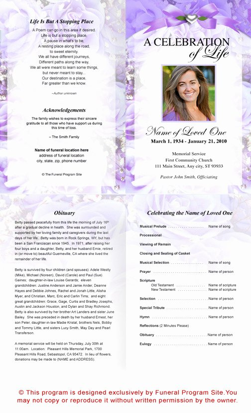 Funeral Program Template Publisher Beautiful Best S Of Template Funeral Program Free Sample