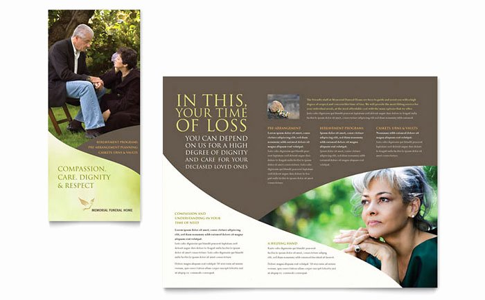 Funeral Program Template Publisher Best Of Memorial & Funeral Program Brochure Template Design