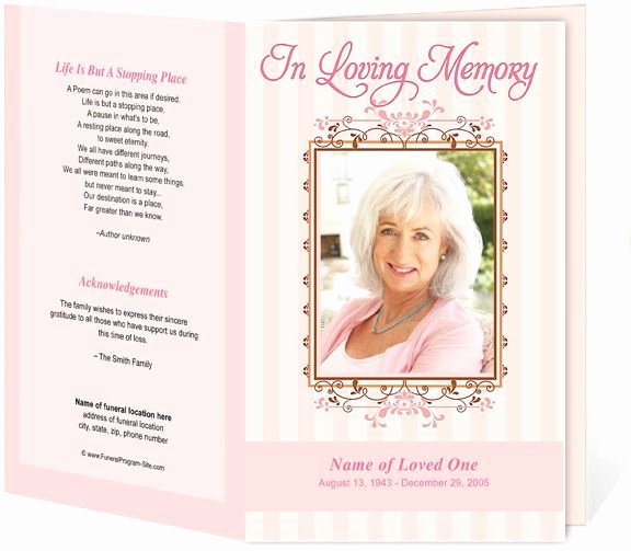 creative memorials with funeral program templates