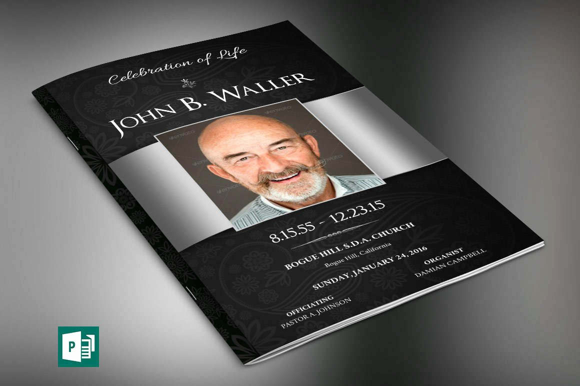 Funeral Program Template Publisher Inspirational Black Dignity Funeral Program Publisher Template