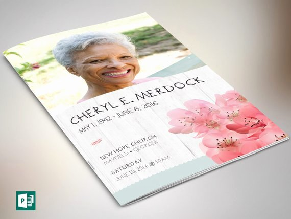 Funeral Program Template Publisher Inspirational Magnolia Funeral Program Publisher Template