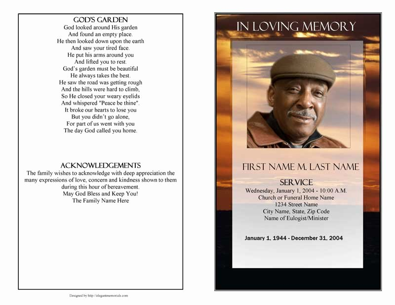 Funeral Program Template Publisher Lovely Funeral Program Template