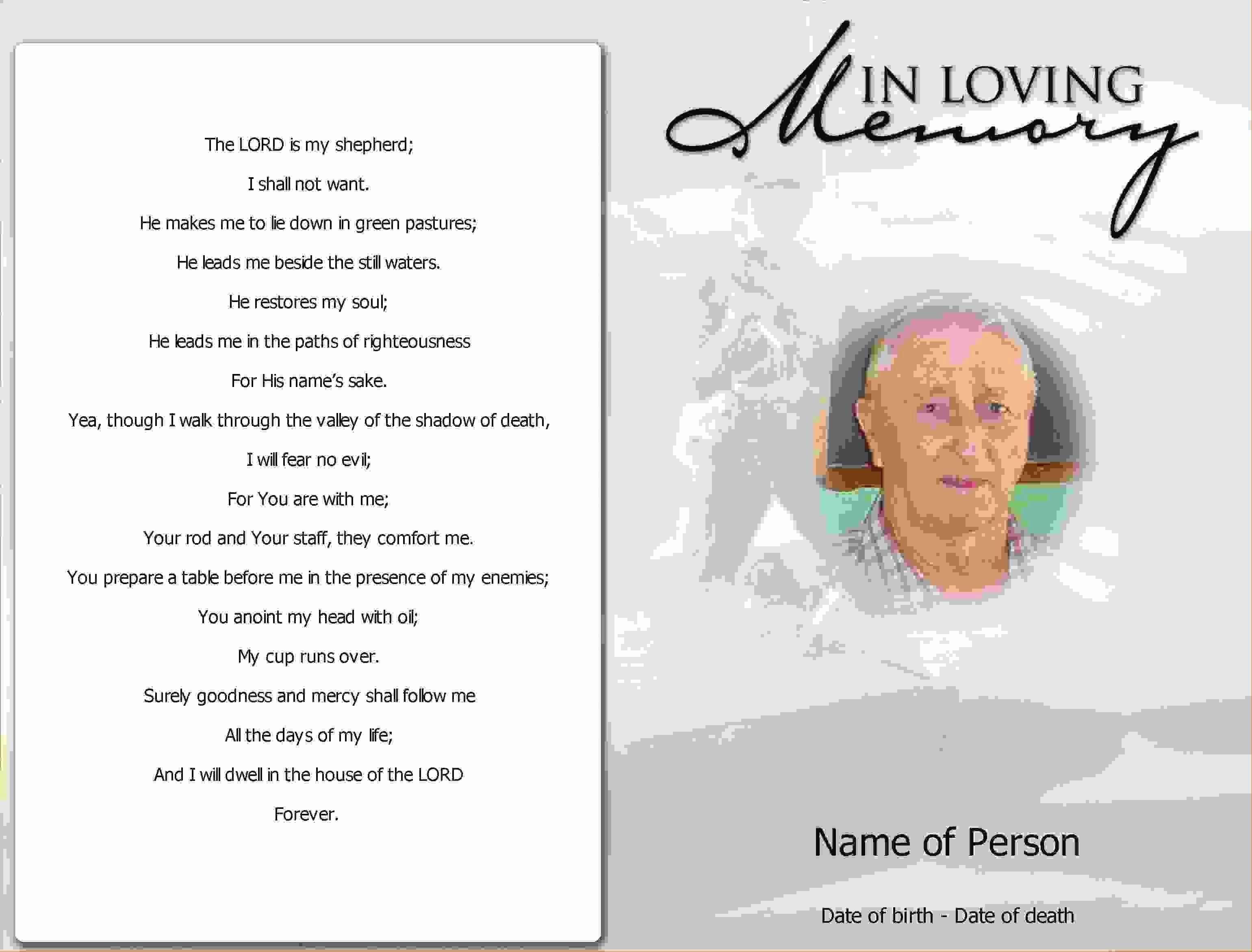 Funeral Program Template Publisher Lovely Funeral Program Template Publisher Free Download