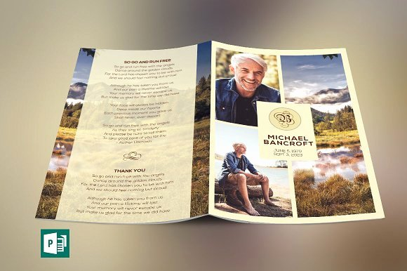 Funeral Program Template Publisher Luxury Nature Funeral Program Publisher Templates On Creative