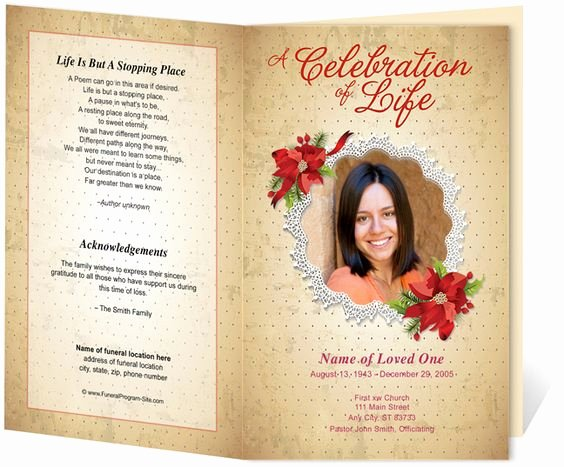 Funeral Program Template Publisher Unique Pinterest • the World's Catalog Of Ideas