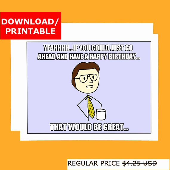 Funny Birthday Card Template Inspirational Coworker Birthday Card Funny Printable Birthday Card