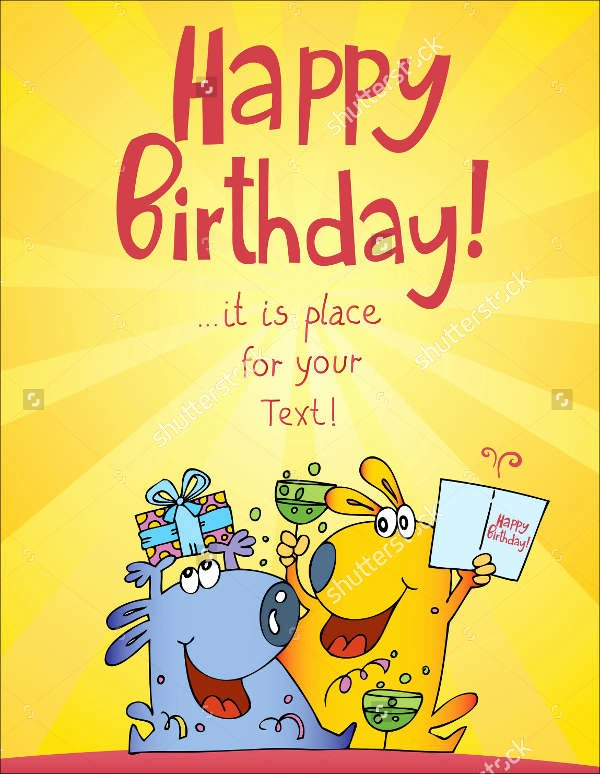 Funny Birthday Card Template Luxury 9 Funny Birthday Card Templates Free Psd Vector Ai Eps
