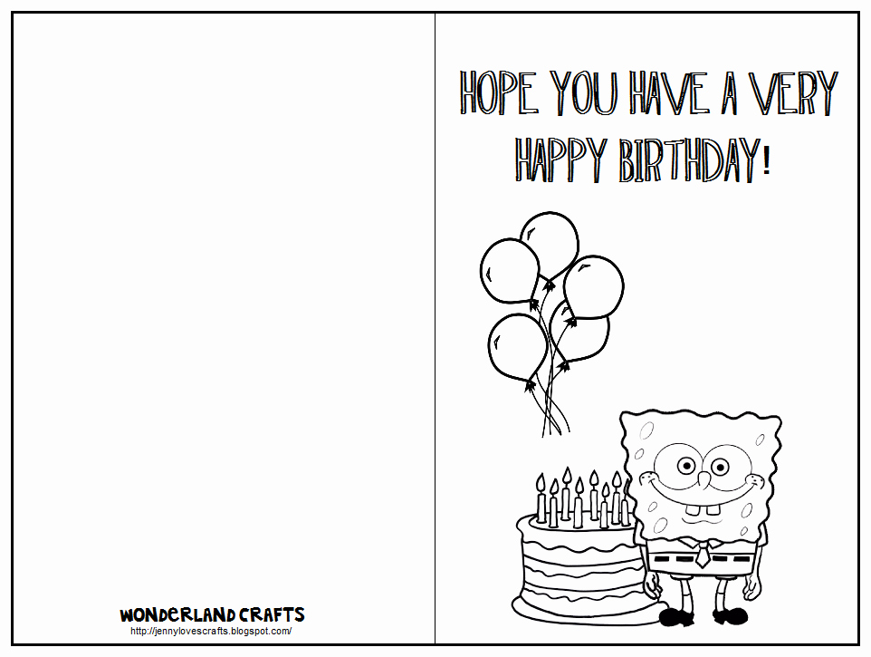 Funny Birthday Card Template New 7 Best Of Printable Folding Birthday Cards for Kids