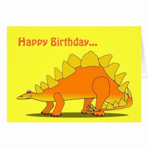 Funny Birthday Card Template New Funny Stegosaurus Dinosaur Birthday Card Template