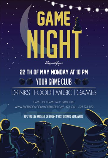 Game Night Flyer Template Awesome Free Psd Flyers Templates for event Club Party and