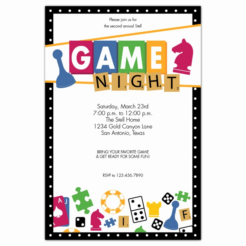 Game Night Flyer Template Awesome Game Night