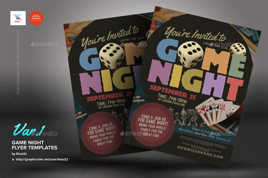 Game Night Flyer Template Beautiful Game Night Flyer Templates by Kinzi21