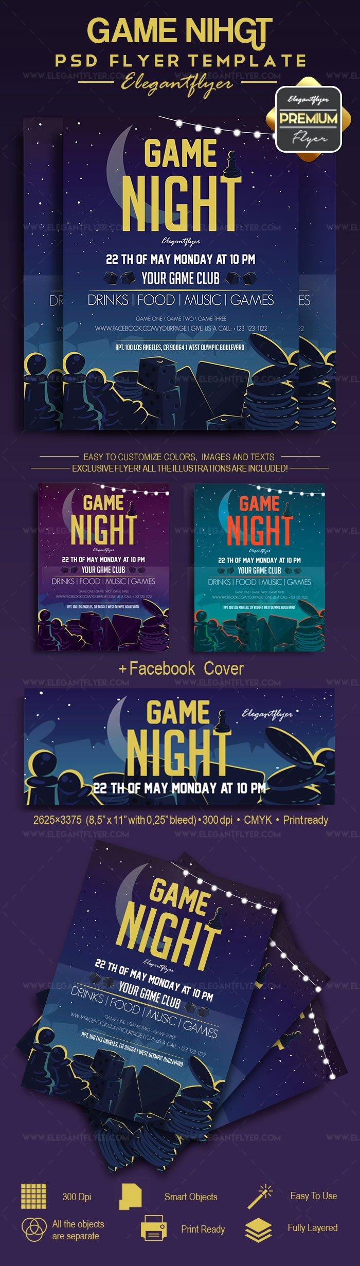 Game Night Flyer Template Elegant Game Night – Flyer Psd Template – by Elegantflyer
