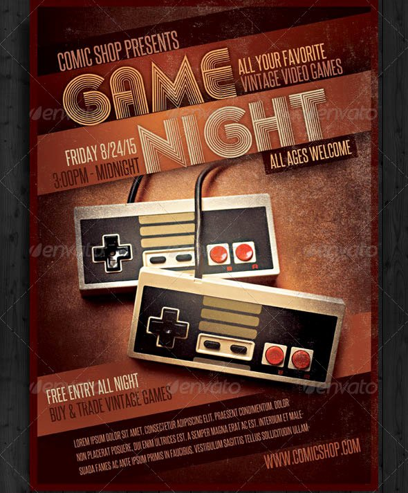 Game Night Flyer Template Fresh Game Night Flyer Template Yourweek Eca25e