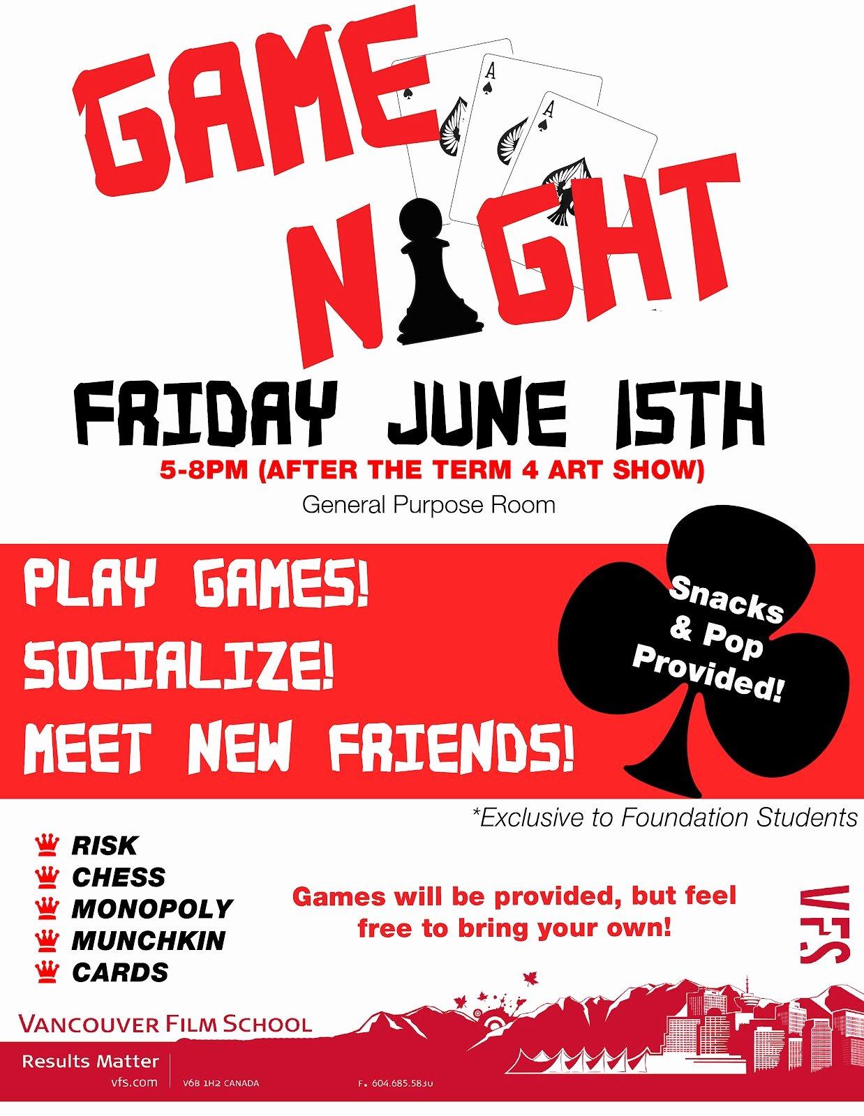 Game Night Flyer Template Fresh Herobix Game Night