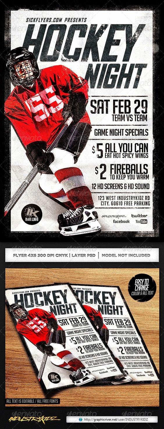 Game Night Flyer Template Fresh Hockey Games Flyer Template and Game Night On Pinterest