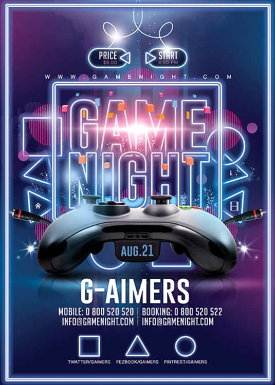 Game Night Flyer Template Fresh N2n44 Graphic Design