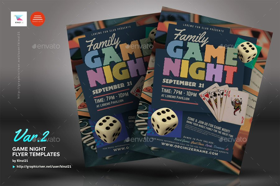 Game Night Flyer Template Inspirational Game Night Flyer Templates by Kinzi21