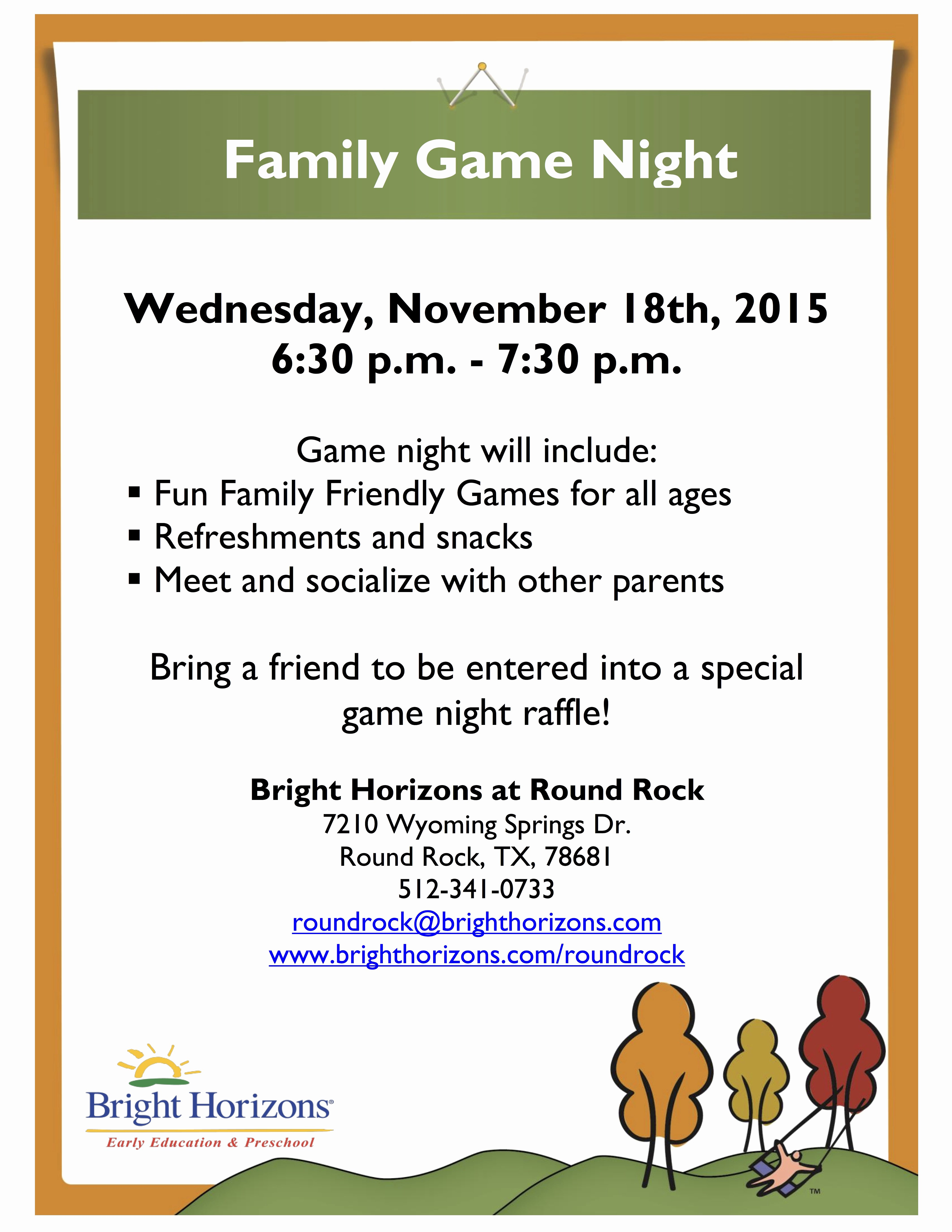Game Night Flyer Template Lovely the Gallery for Family Game Night Flyer Template
