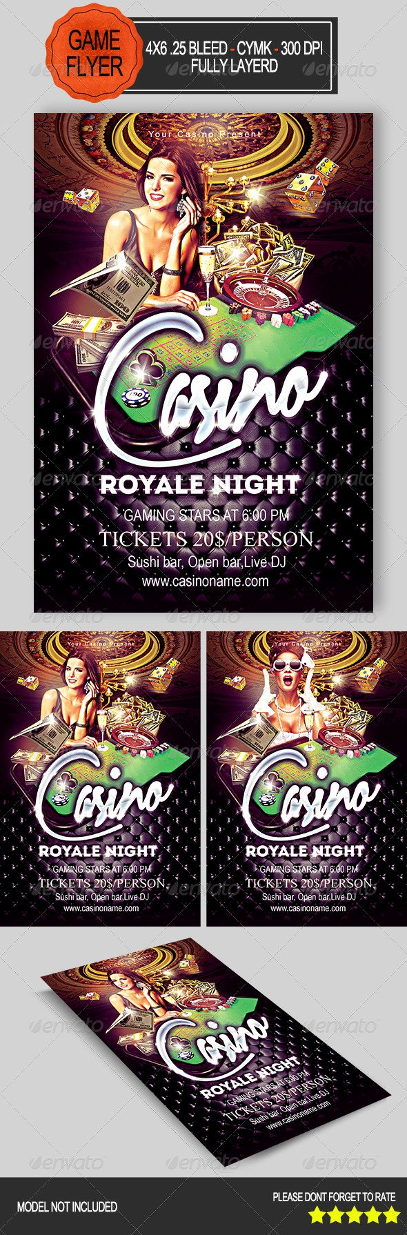 Game Night Flyer Template Luxury Free Blank Casino Night Flyer Tinkytyler Stock
