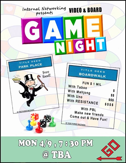 Game Night Flyer Template New Game Night Flyer Game Night Party Pinterest