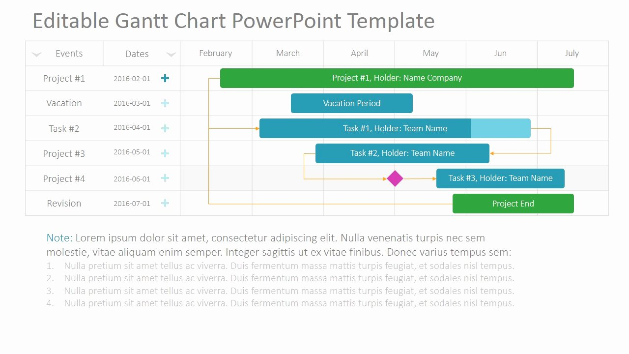 Gantt Chart Powerpoint Template Awesome Project Gantt Chart Powerpoint Template Slidemodel