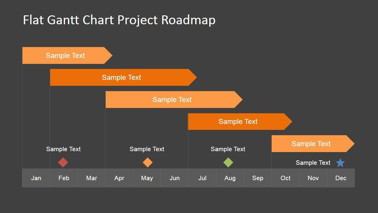 Gantt Chart Powerpoint Template Beautiful Editable Gantt Chart for Powerpoint Slidemodel